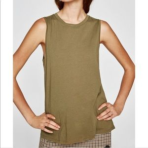 Zara || Olive Green Sleeveless Tank